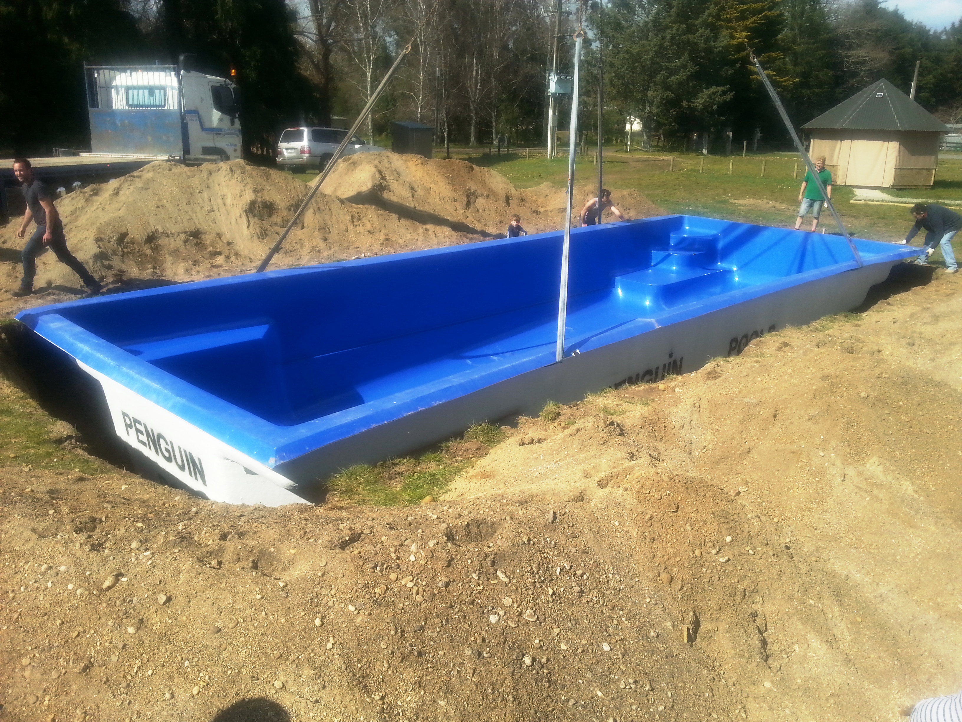 Pool is in!